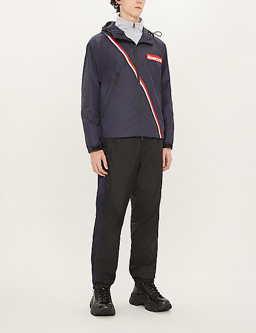 MONCLER Brand logo-patch regular-fit shell jacket