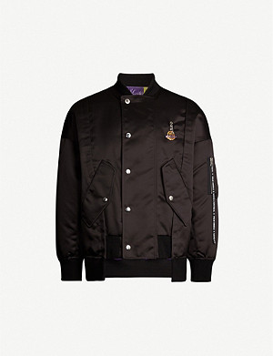 MONCLER GENIUS Moncler 8 Palm Angels graffiti-print satin bomber jacket