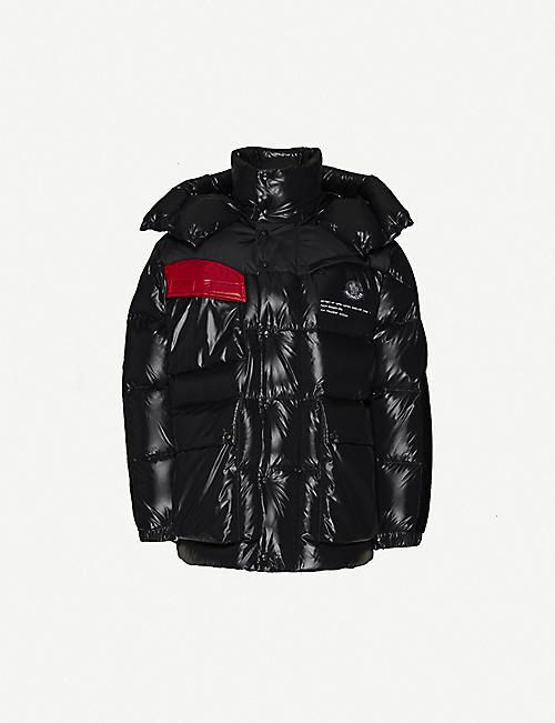 MONCLER GENIUS Nieuport funnel-neck hooded shell-down jacket