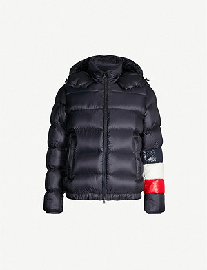 MONCLER Padded shell and down-blend hooded jacket