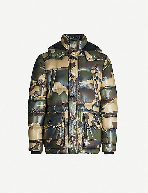 MONCLER Camouflage-print shell-down hooded jacket