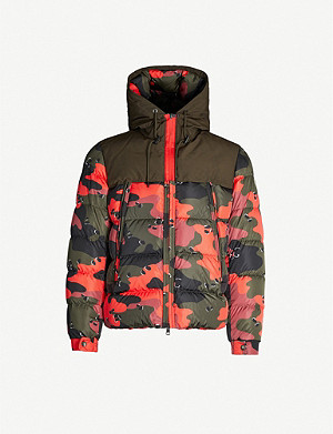 MONCLER Eymeric camouflage-print shell and down-blend jacket