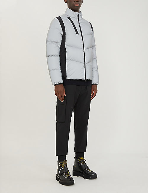 MONCLER Leblanc reflective shell-down hooded jacket
