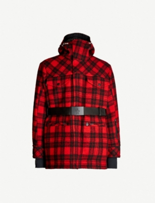 MONCLER GENIUS Stowe checked wool and down-blend jacket