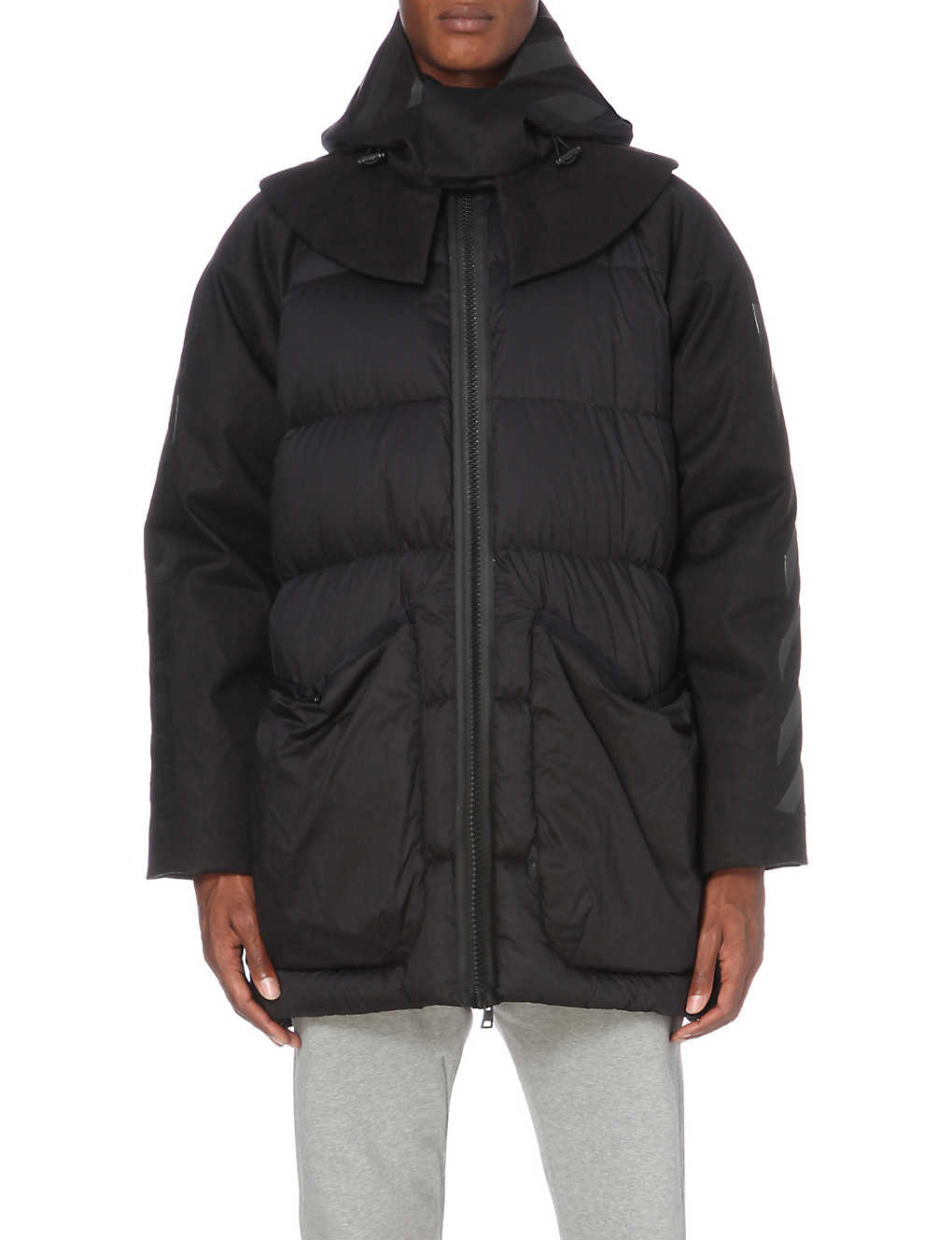 f959128b5 MONCLER - Moncler x Off-White long quilted cotton jacket ...