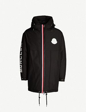 MONCLER Charnier logo-patch shell-down hooded jacket