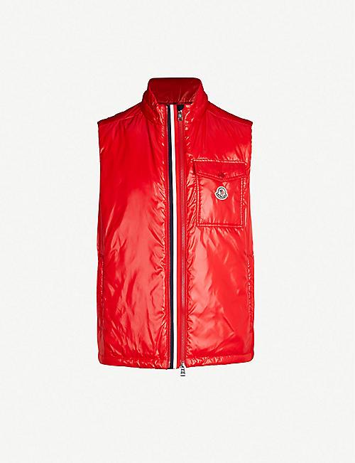 e01c357ae06cd1 MONCLER High-shine laqué-down hooded gilet