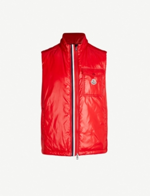 MONCLER High-shine laqué-down hooded gilet