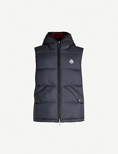 MONCLER Reversible wool and shell-down gilet