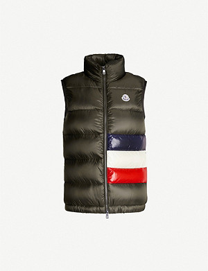MONCLER Colour-blocked padded shell-down jacket
