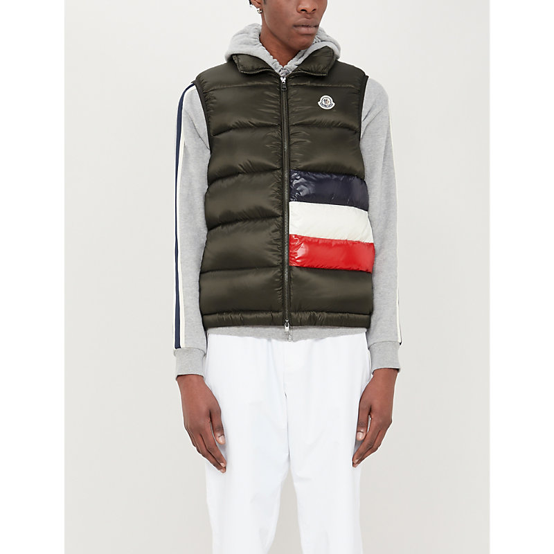 Moncler Jackets COLOUR-BLOCKED PADDED SHELL-DOWN JACKET