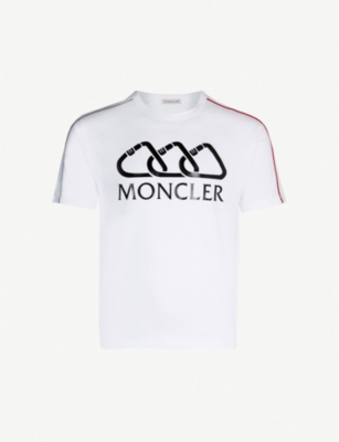 MONCLER Clip logo-embossed cotton-jersey T-shirt