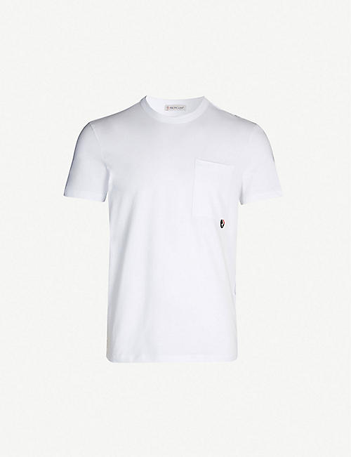 8ee9ba6c MONCLER Patch-pocket cotton-jersey T-shirt