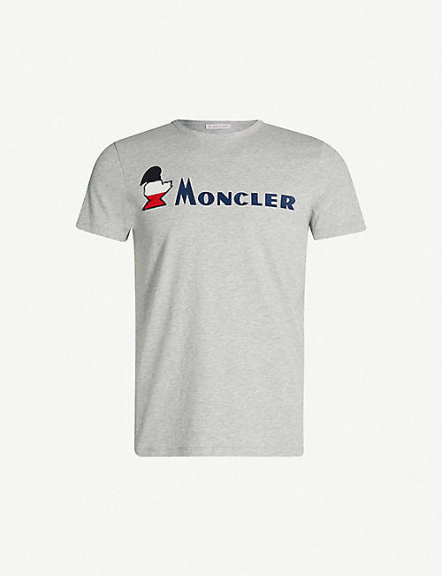 052257213d012c MONCLER Logo-embossed crewneck cotton-jersey T-shirt