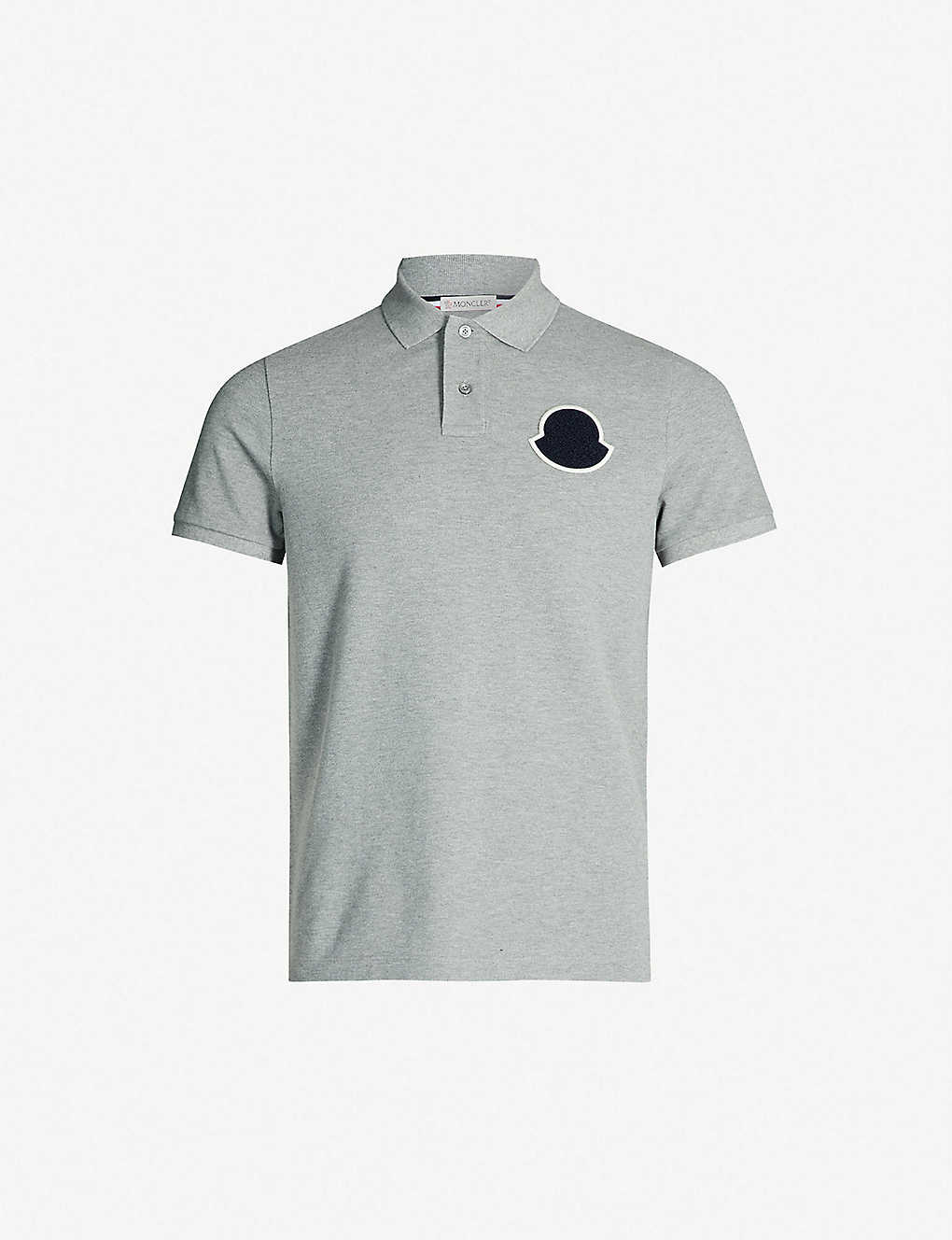 70e90ccb MONCLER - Logo-patch cotton-piqué polo shirt | Selfridges.com