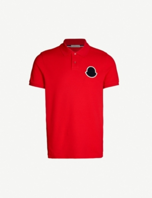MONCLER Logo-patch cotton-piqué polo shirt
