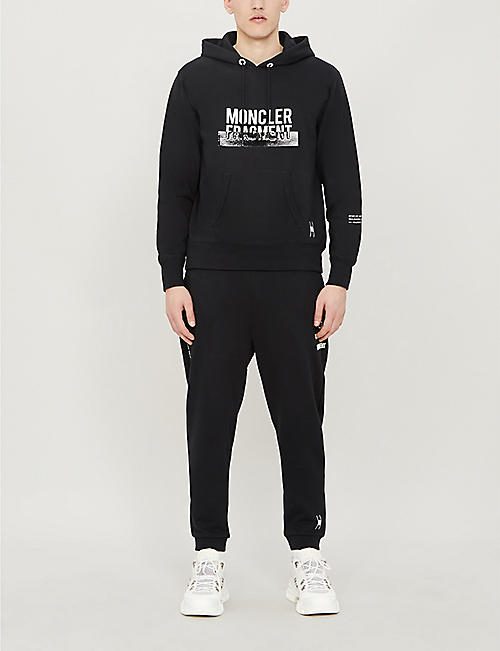 MONCLER GENIUS Moncler 7 Fragment tapered cotton-jersey jogging bottoms