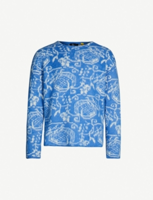 MONCLER GENIUS Patterned crewneck wool-blend jumper