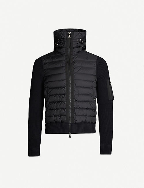 b6a6f3e0eaaa MONCLER Shell and knitted jacket