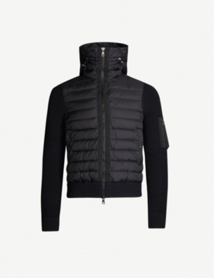MONCLER Shell and knitted jacket