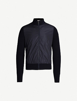 MONCLER Shell-panelled knitted jacket