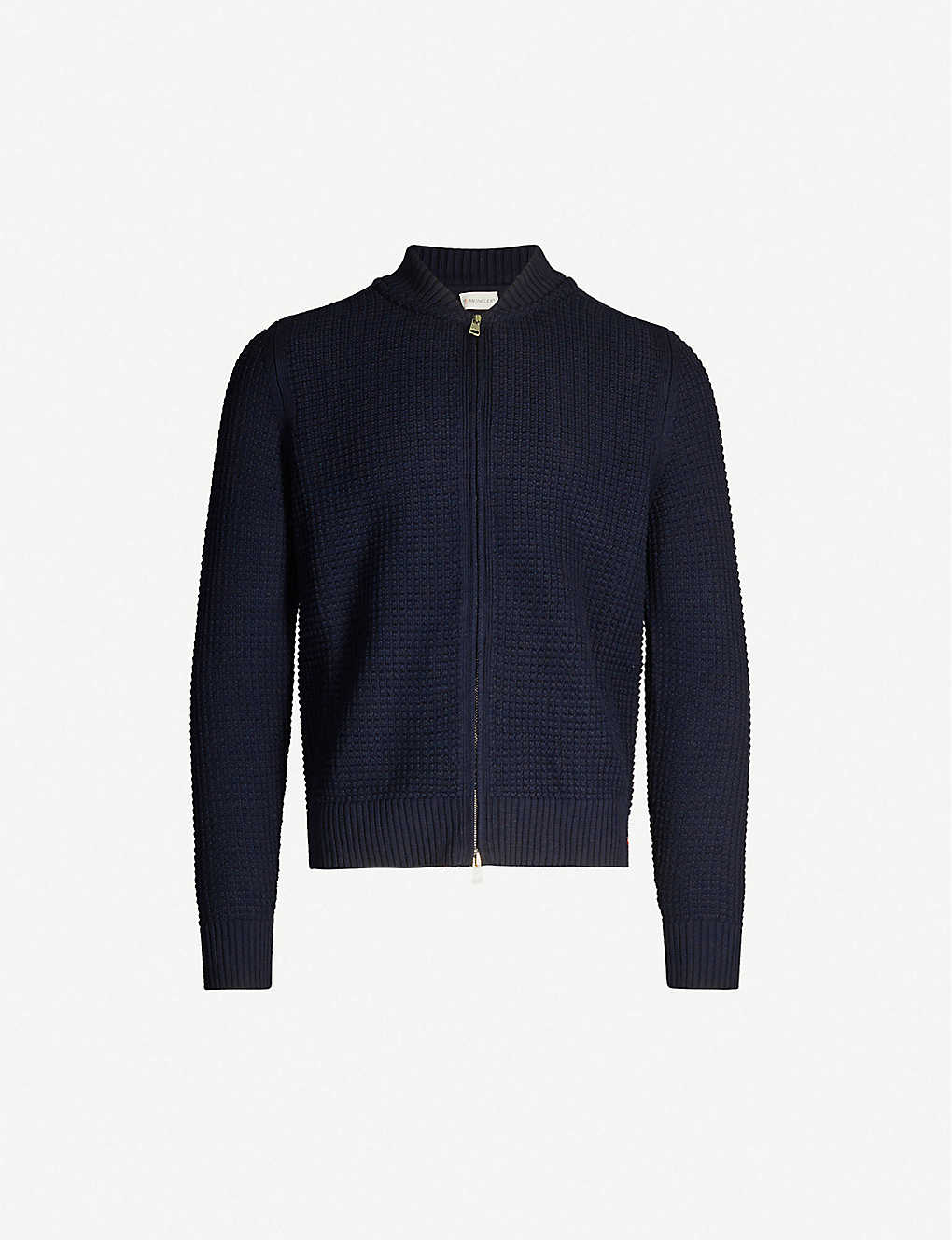 MONCLER: Relaxed-fit waffle-knit wool jacket