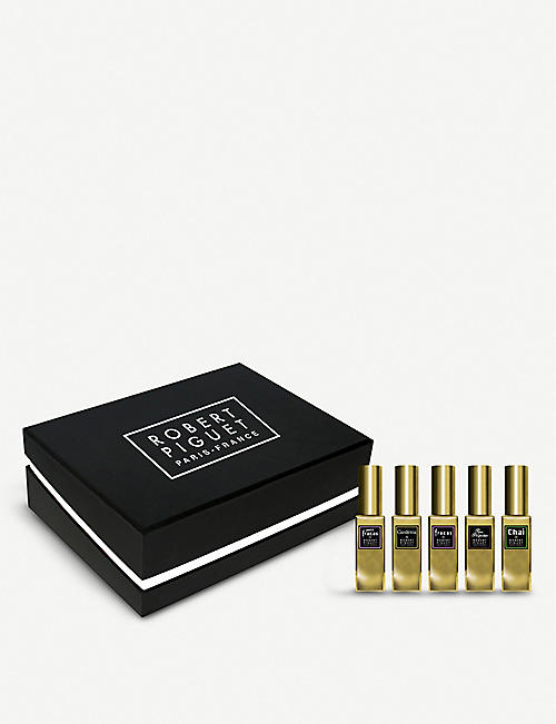 ROBERT PIGUET: Luxury Fragrance Wardrobe eau de parfum sample set 5x5ml