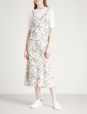 53009992999dc RAG & BONE - Astrid floral-print woven slip dress | Selfridges.com