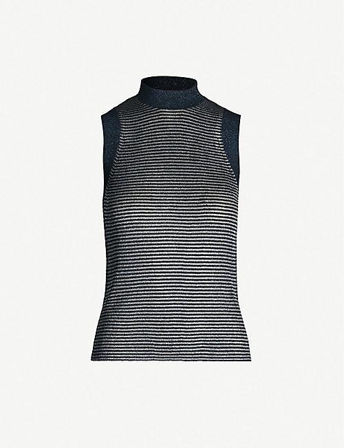 80a4a7e504702 RAG   BONE Raina striped metallic-knit tank top