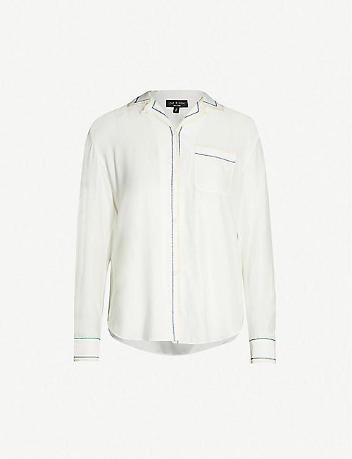 a3f4a2b4ed4d8d RAG   BONE Anika contrast-stitch silk shirt