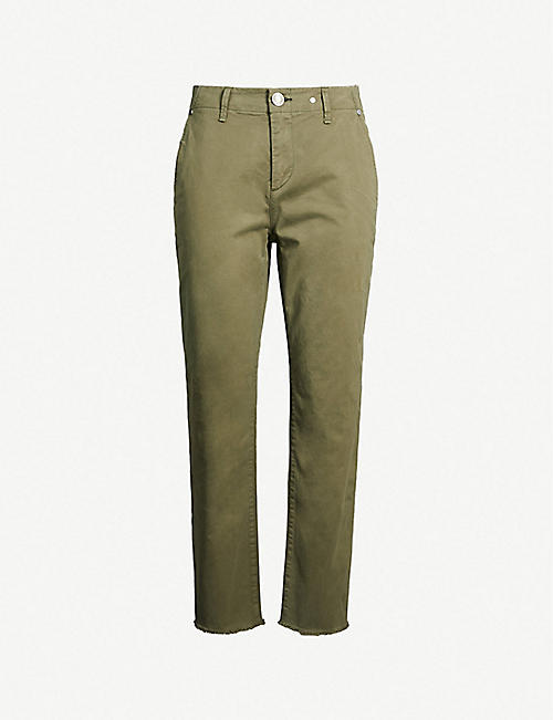 a349c6ce7bba7 RAG & BONE Buckley cropped high-rise cotton-blend trousers
