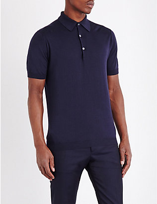 JOHN SMEDLEY: Sea Island cotton polo shirt