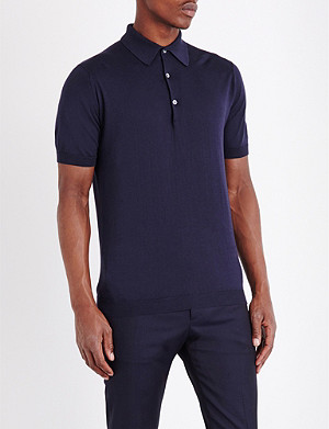 JOHN SMEDLEY Sea Island cotton polo shirt