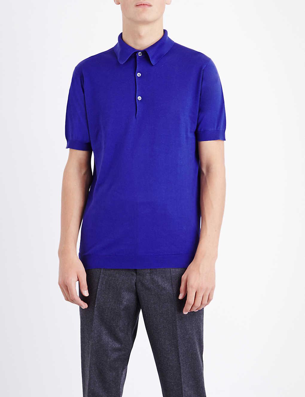 792f2e5f65d8 JOHN SMEDLEY - Adrian cotton polo shirt   Selfridges.com