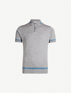 JOHN SMEDLEY Beecroft striped cotton polo shirt