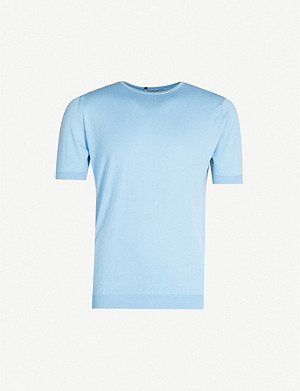 JOHN SMEDLEY Belden cotton-knit T-shirt