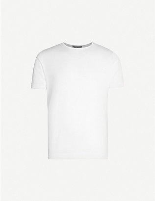 JOHN SMEDLEY: Belden cotton-knit T-shirt