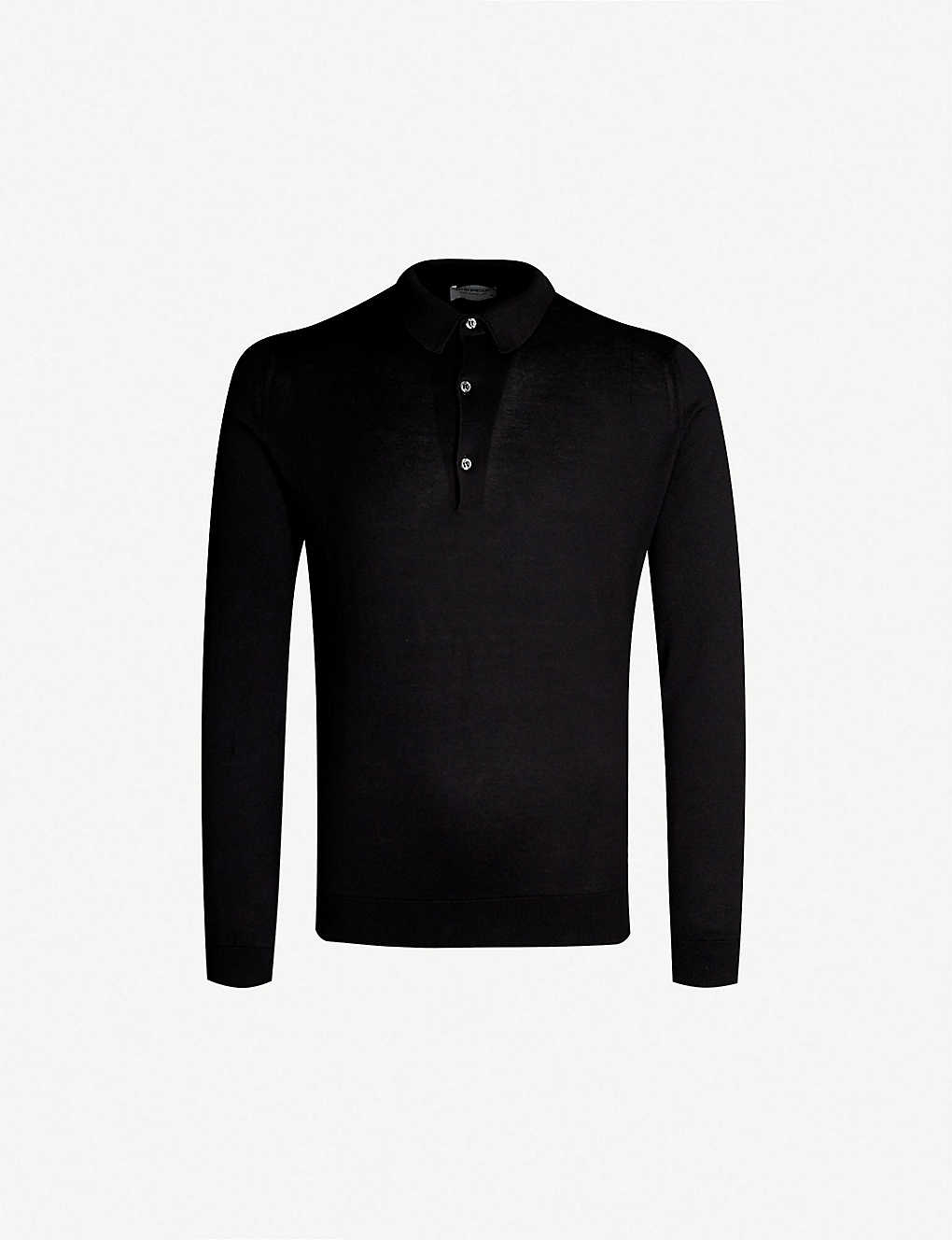 JOHN SMEDLEY: Bradwell cotton-knit polo top