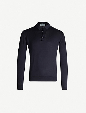 JOHN SMEDLEY Bradwell cotton-knit polo top