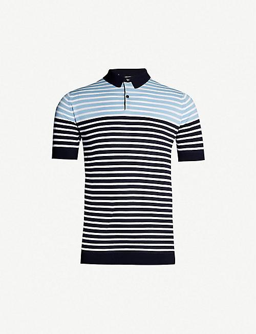 836dc7de6769 JOHN SMEDLEY Eddris striped cotton polo shirt