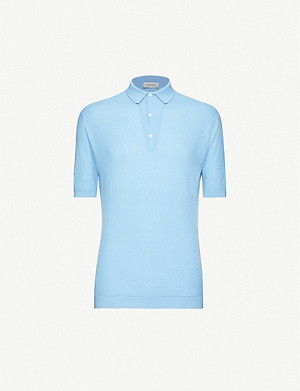 JOHN SMEDLEY Roth cotton-knit polo shirt