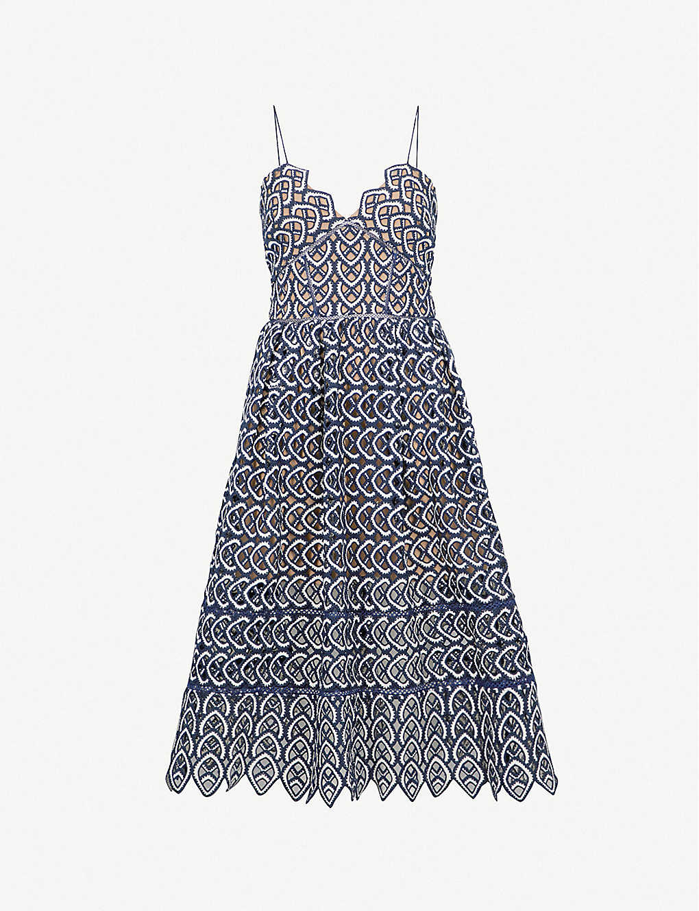 bb812aa1cace SELF-PORTRAIT - Sweetheart Azaelea crochet-lace midi dress ...