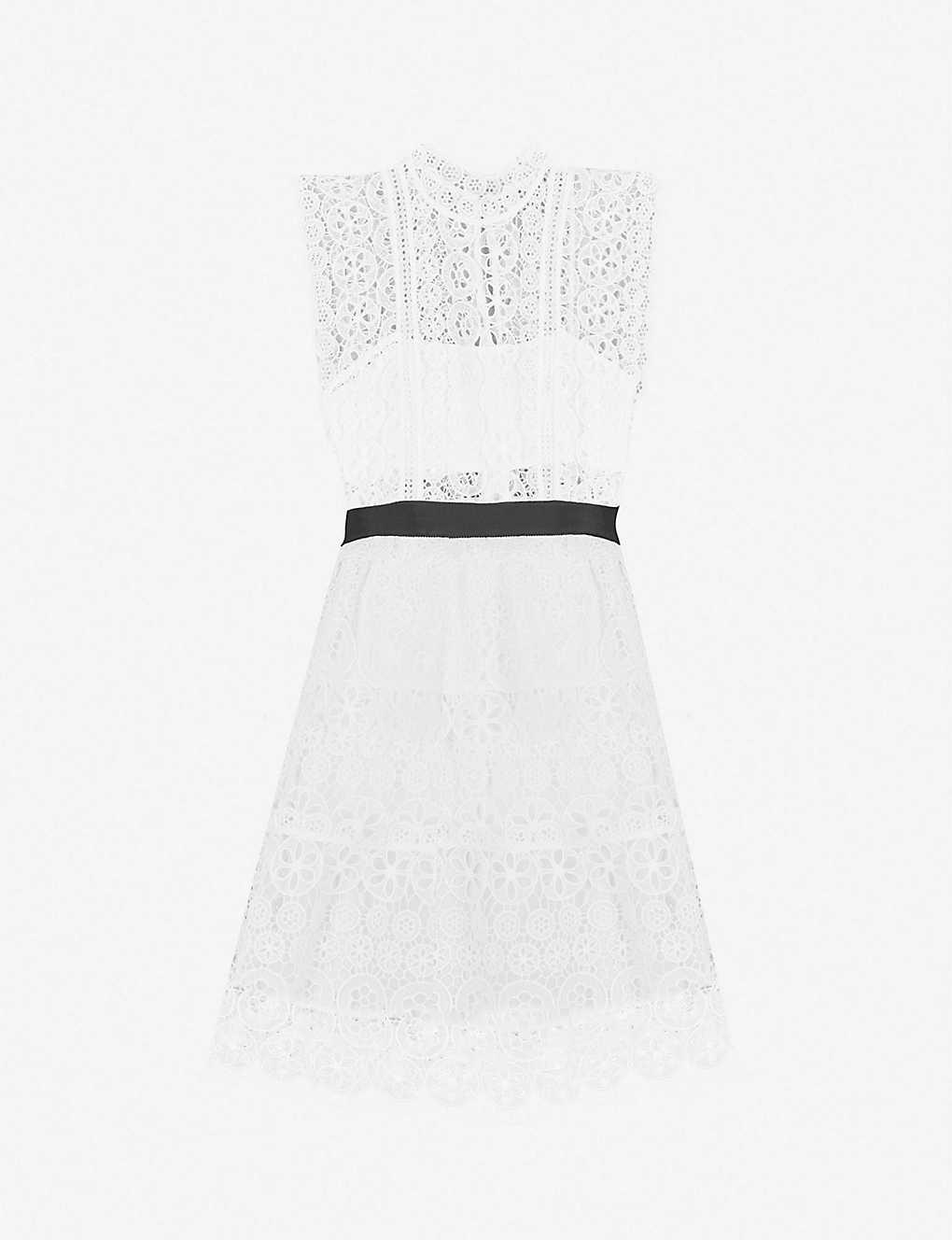 e5da388980a4e SELF-PORTRAIT - Belted guipure-lace mini dress | Selfridges.com
