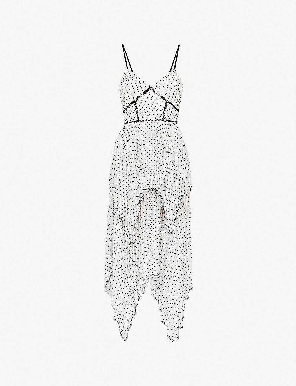 d7bfb507 SELF-PORTRAIT - Tiered plumetis midi dress | Selfridges.com