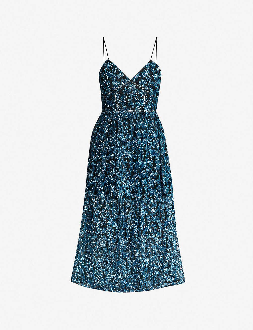 2d32a32190d255 SELF-PORTRAIT - Sequin azaelea midi dress