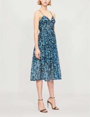 65c4e45c7abe SELF-PORTRAIT - Sequin azaelea midi dress | Selfridges.com