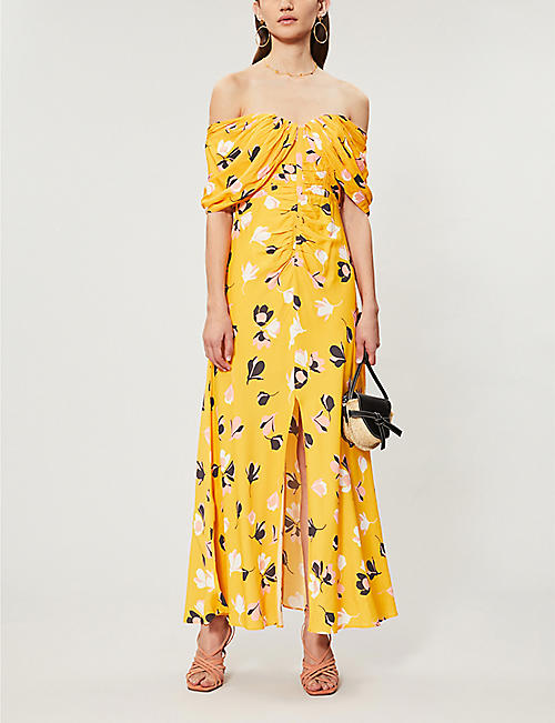 SELF PORTRAIT Off-the-shoulder crepe dress