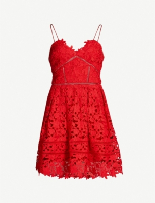 SELF PORTRAIT Mini Azaelea guipure lace dress