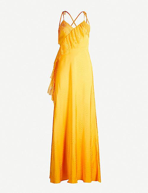 d2aa0c69c6c SELF-PORTRAIT V-neck sleeveless strappy crepe dress