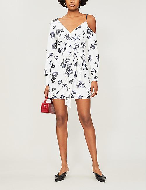 924d3a10ad7 SELF-PORTRAIT One-shoulder sequin-embellished crepe mini dress